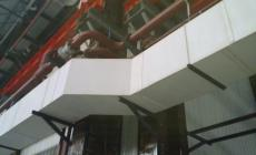 连续生产工艺一次成型彩钢酚醛防火保温板 复合风管